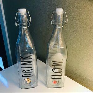 Rae Dunn Trigger Bottle Set- NWT- DRINK & FLOW